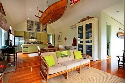 Pops of Chartreuse in the Ming Beach House, Flinders, Victoria ...