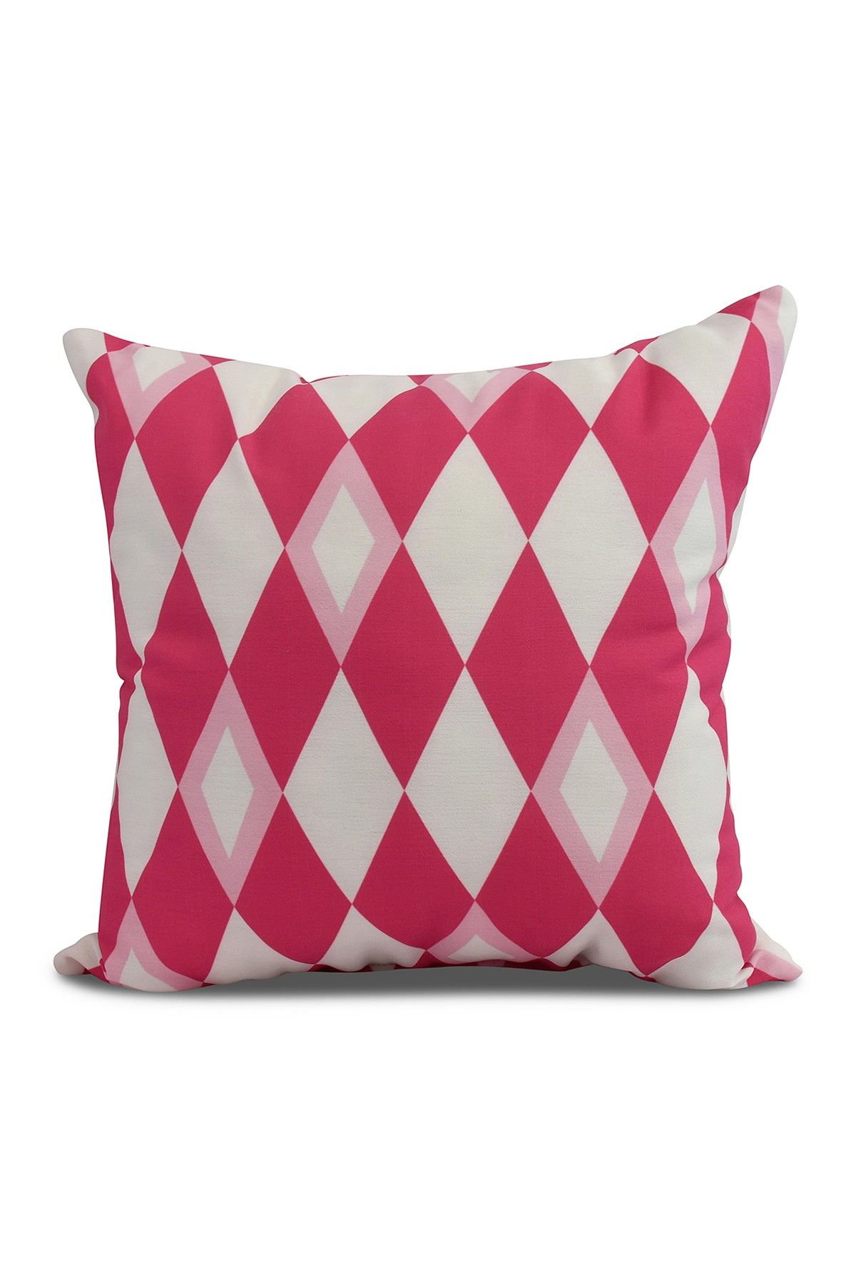 E By Design Harlequin Geometric Print Pillow - Pink/Fushcia | Bed ...