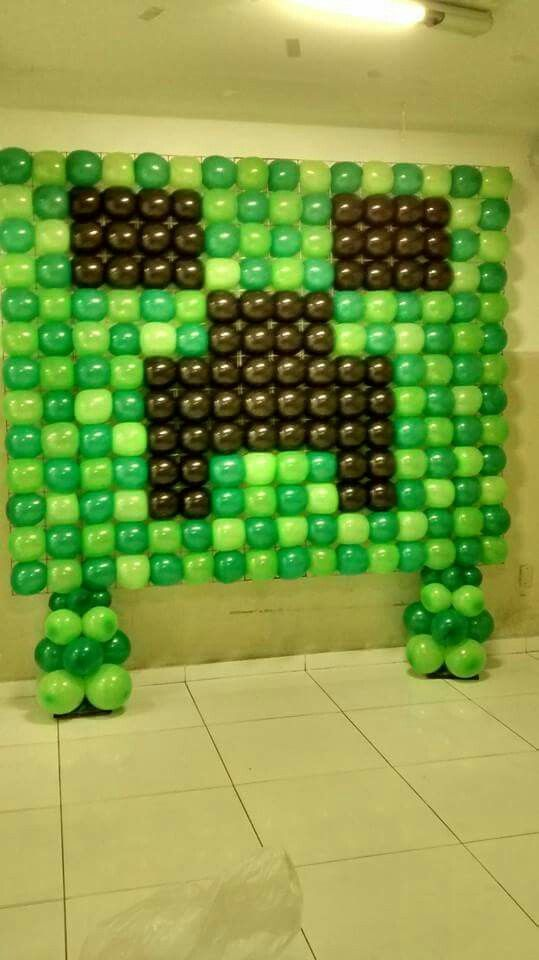Pin by deyanira gamez on proyectos de globos pinterest for Balloon decoration on wall for birthday