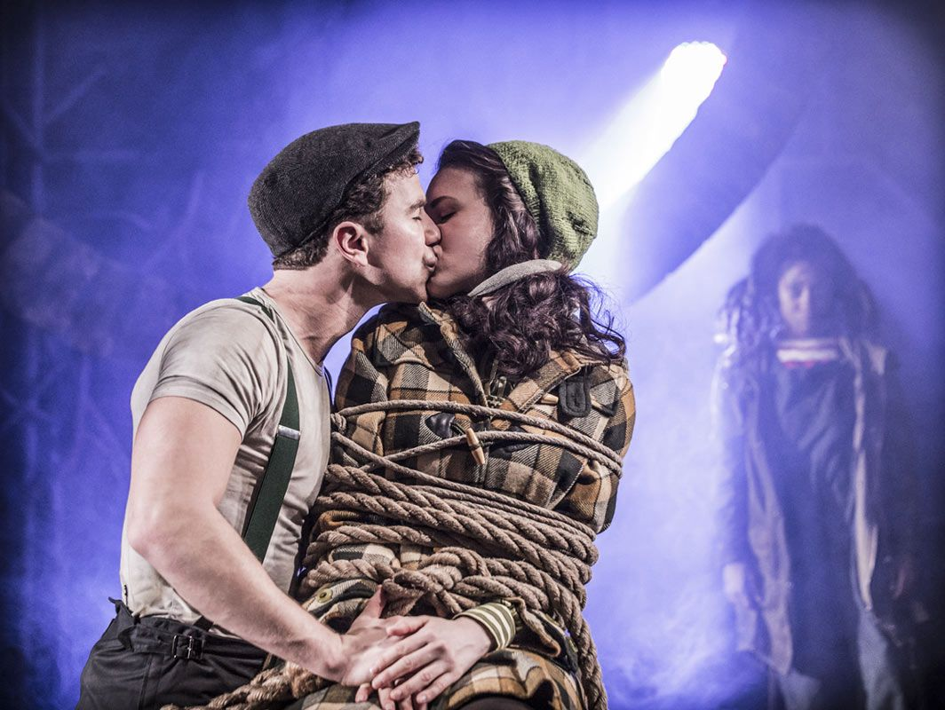 #Urinetown The Musical at #London's St. James Theatre.    Richard Fleeshman (Bobby Strong) and Rosanna Hyland (Hope Cladwell). Photo: Johan Persson ♡ www.LOVEtheatre.com/tickets/3587/URINETOWN-The-Musical?sid=PIN