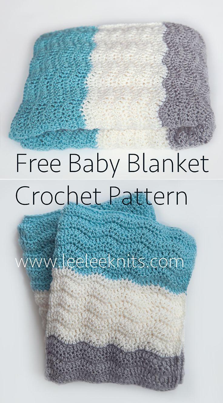 Free Chevron Baby Blanket Crochet Pattern   afghans   Pinterest ...