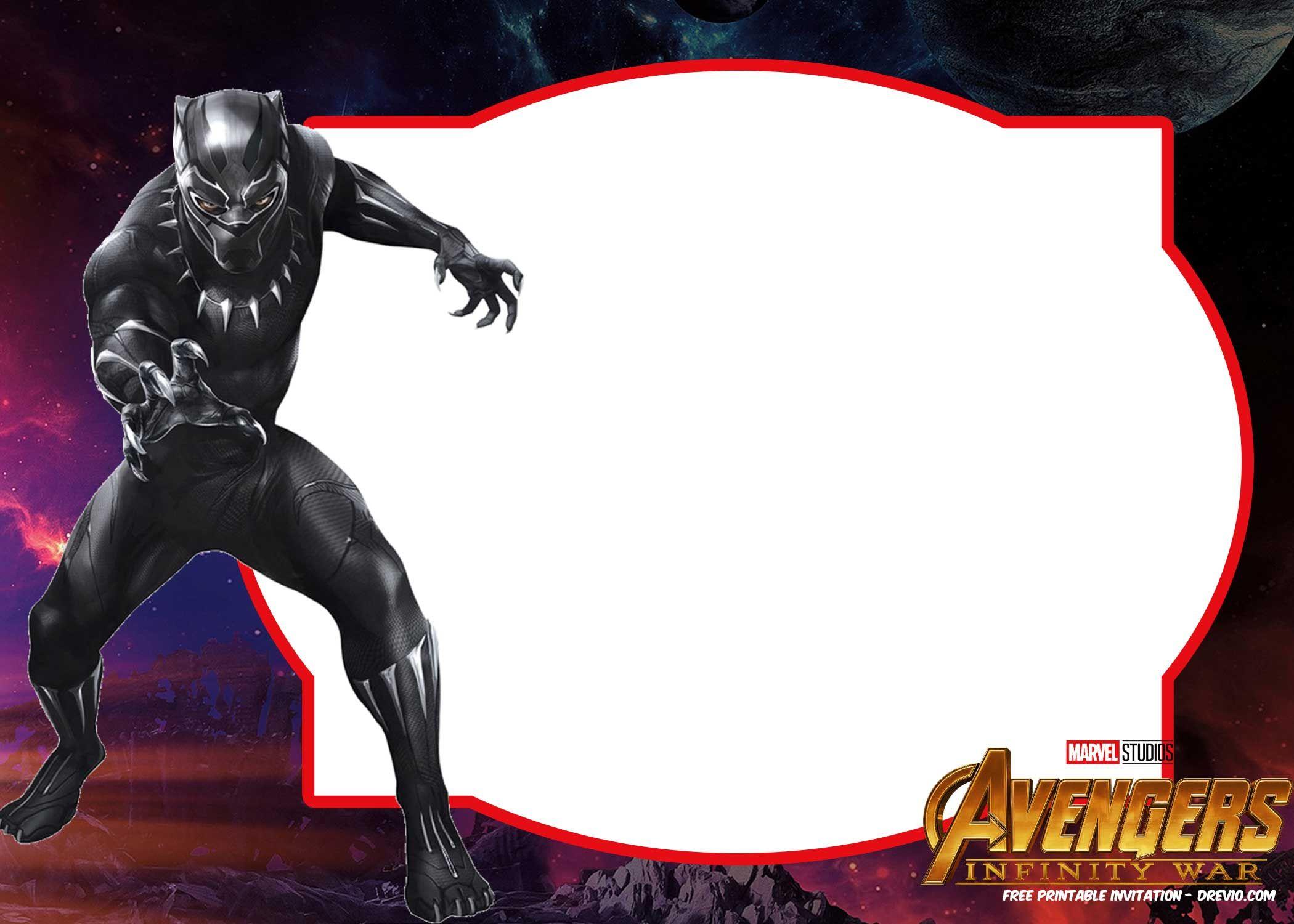 Free Avengers Infinity Wars Birthday Invitation Templates