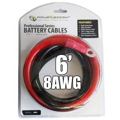 Power Bright 8 Awg6 8 Awg Gauge 6 Ft Professional Series Cables Power Cable Gauges American Wire Gauge
