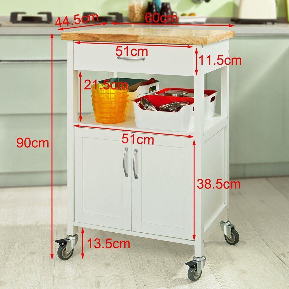 SoBuy® Servierwagen, Küchenwagen, Rollwagen,Getränkewagen fürs Büro ...