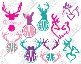 SVG Christmas Monogram Cutting File / Clipart Eps Dxf by SVGSalon