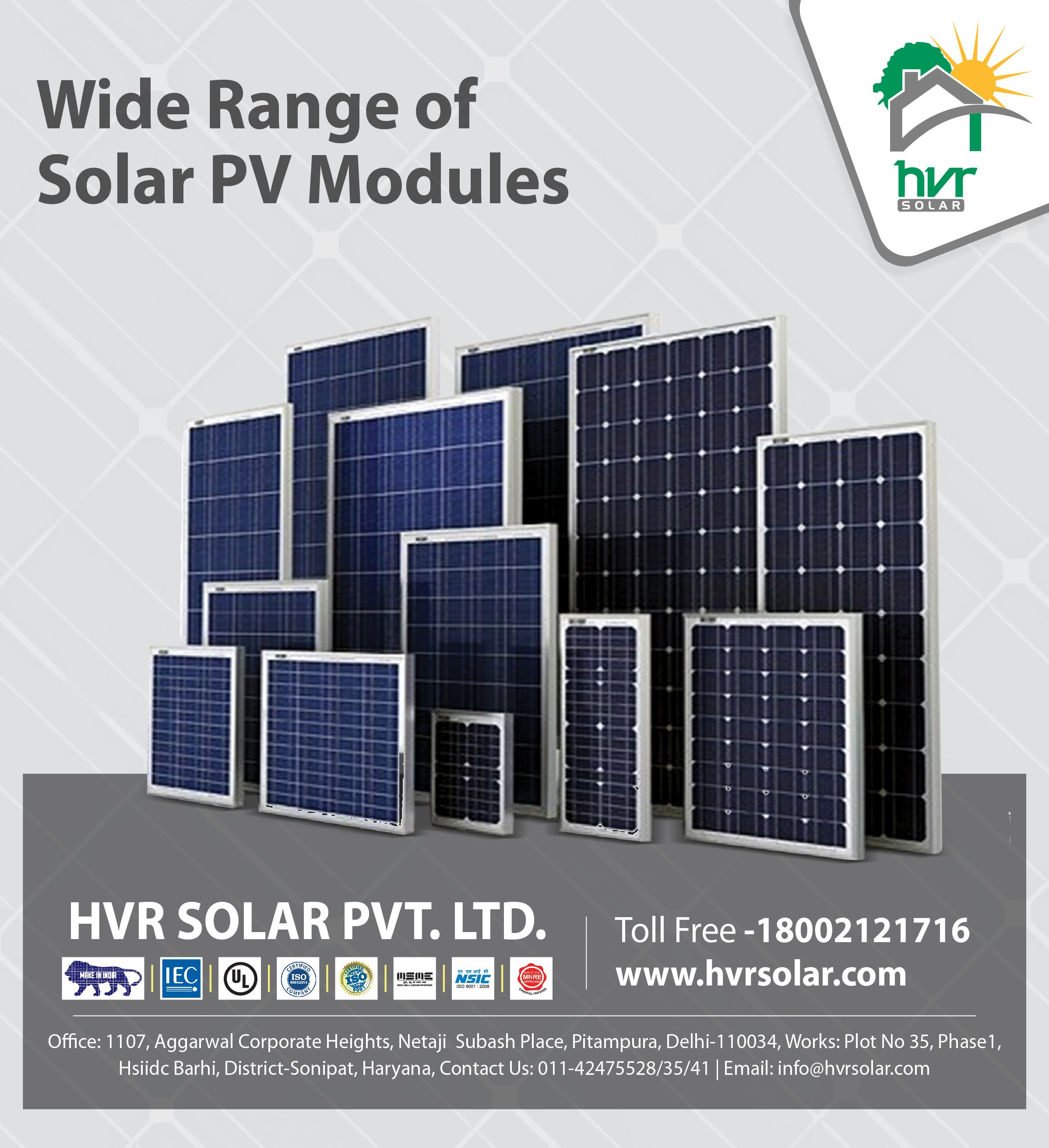 Hvr Solar Offers A Wide Range Of Solar Pv Modules Having Different Characteristics Suitable To Your Needs We Are Manufacturer Of S Solar Panels Solar Pv Solar