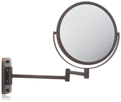 Jerdon Jp7506bz 8 Inch Wall Mount Makeup Mirror With 5x