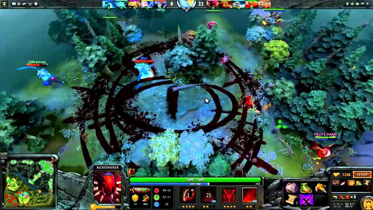 pro dota 2 gameplay artstyle bloodseeker trap music dota 2