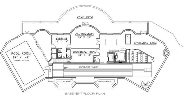 House plans with bowling alleys house design plans Bowling alley floor plans