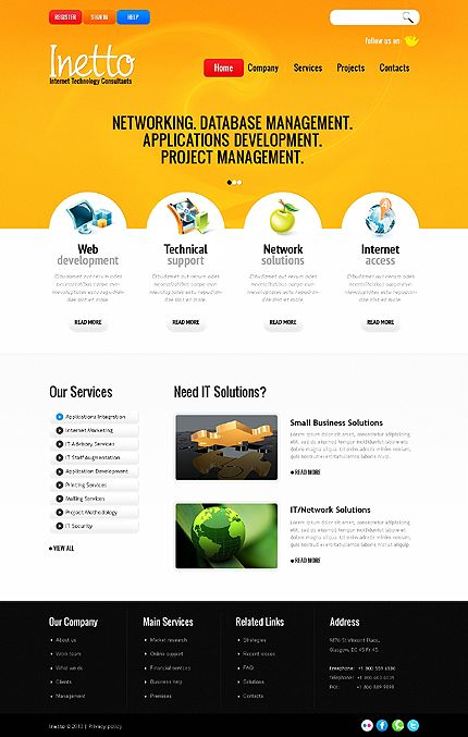 Website Template Website Template Psd Templates Free Business Card Templates