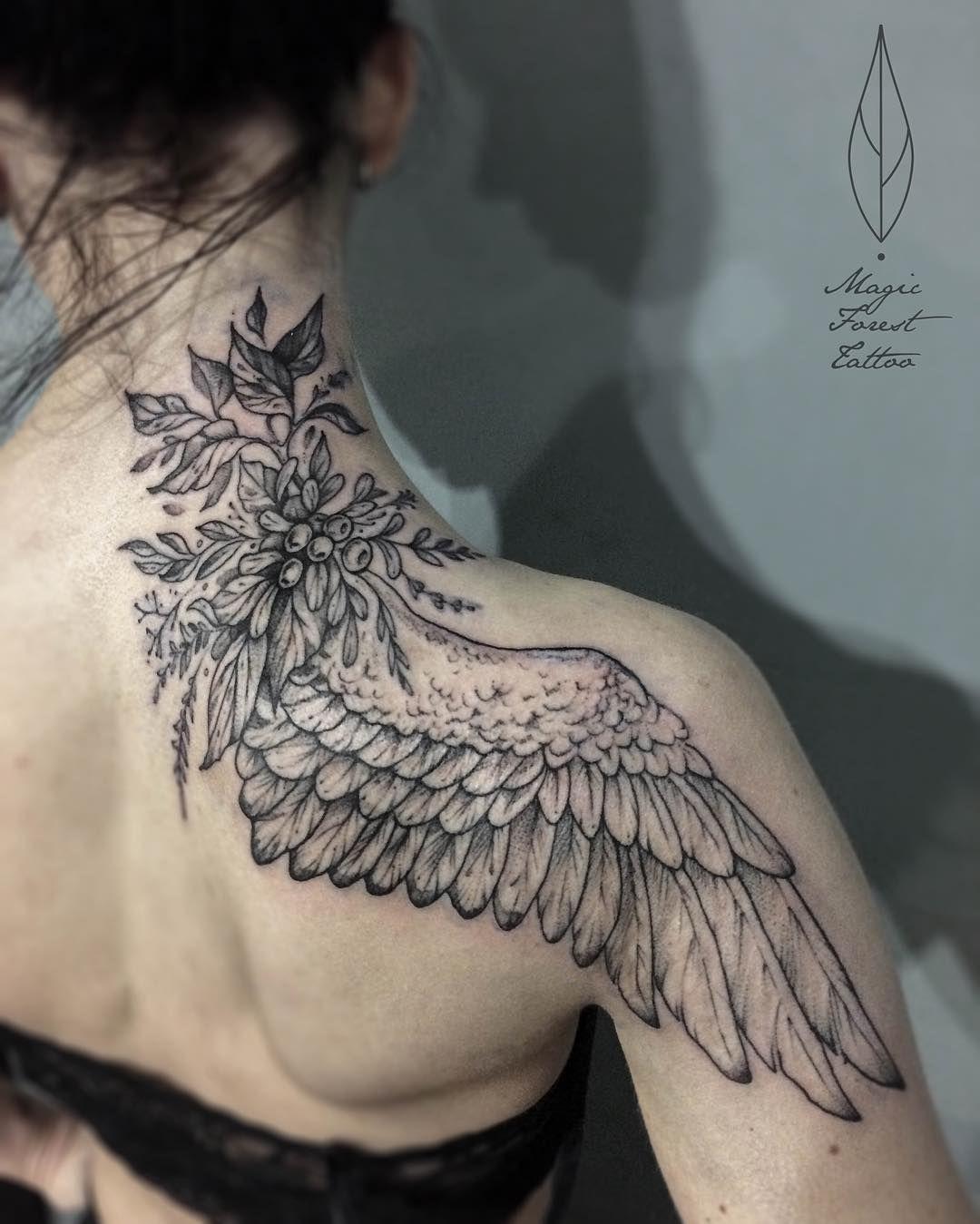 Wing Tattoo Shoulder Blades Winged | — Ta...