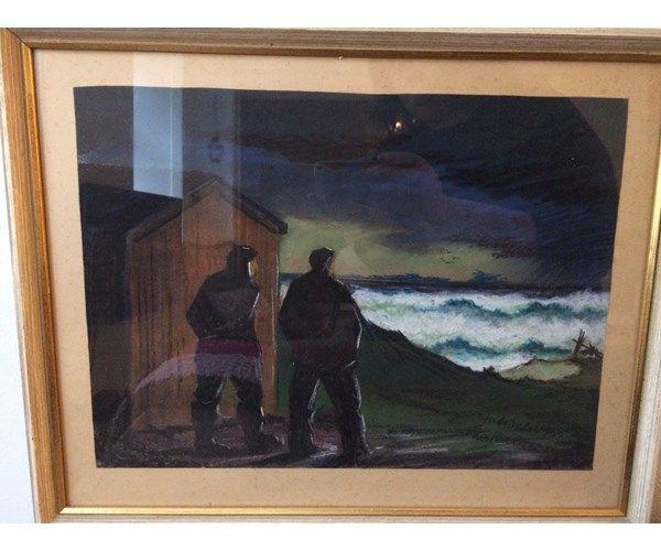 Akvarel Lars Nielsen Motiv Landskab Stil Naturalistisk Malerier Maling Akvarel