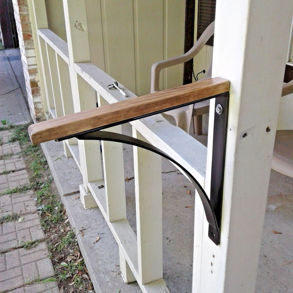 Best New Wrought Iron Wood Top Handrail Grab Rail Safety Rail 1 400 x 300