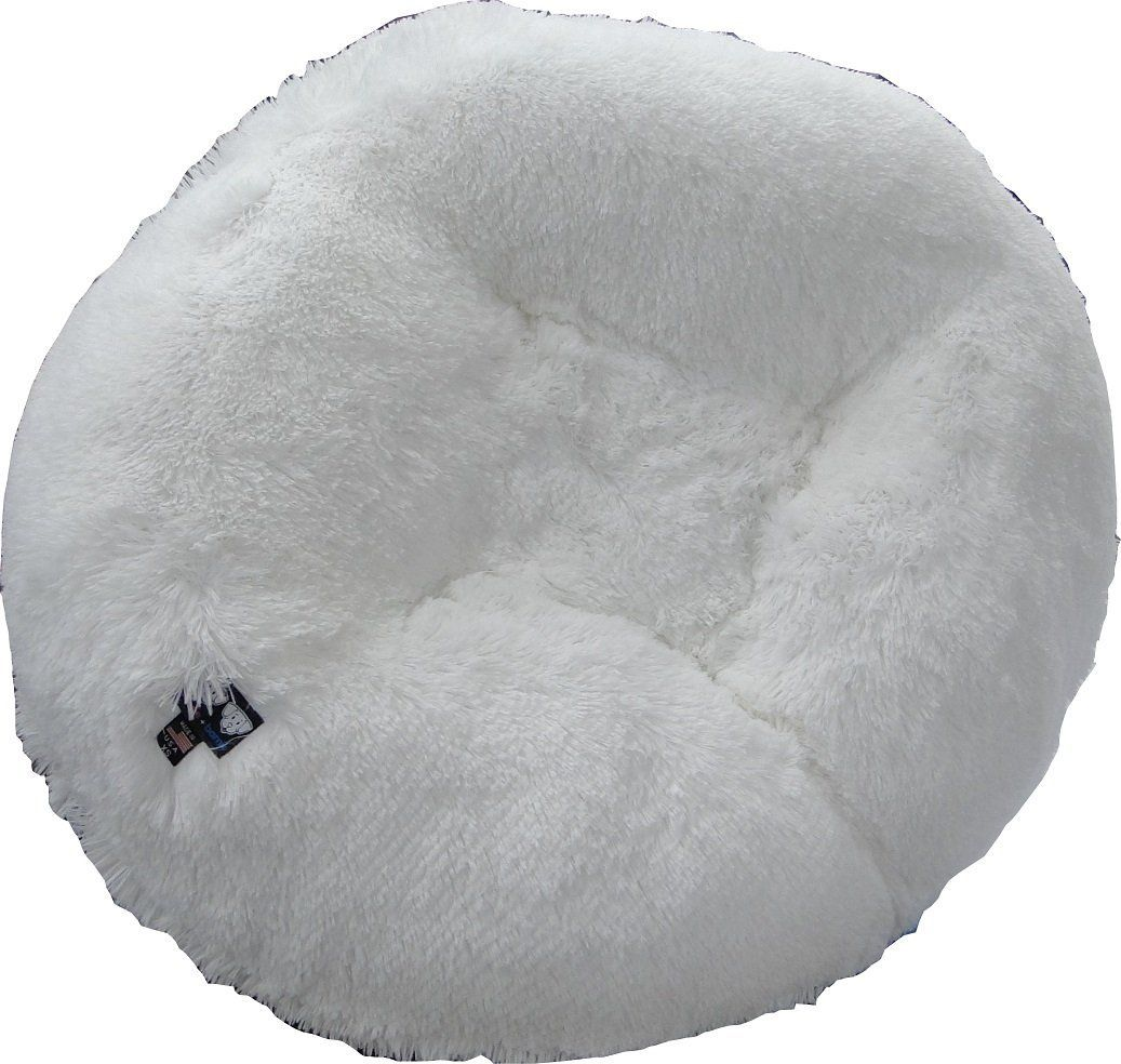 Bessie And Barnie 42 Inch Bagel Bed For Pets Large Snow White Pet Supplies