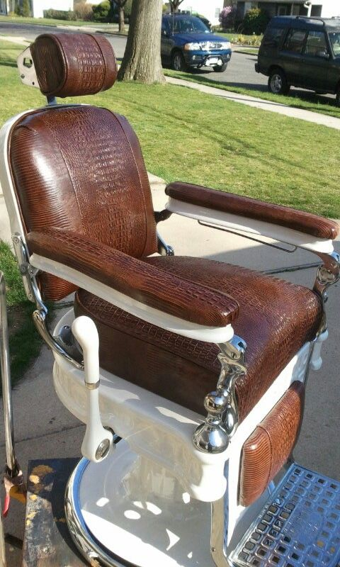 Emil j paidar antique barber chair restoration - AVAIL CHAIRS$$$$$ :-) Antique Barber Chair Restoration Chrome