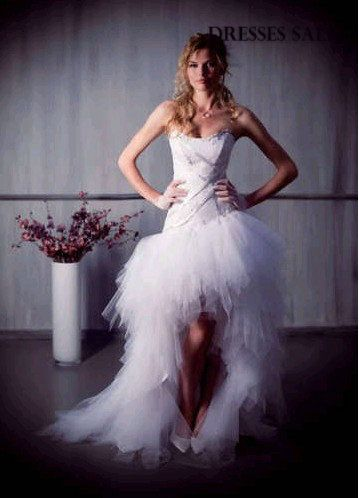 short wedding dresses with train - Bing Images
