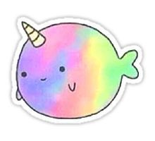 Image result for kawaii tumblr stickers unicorn kawaii for Pegatinas de peces