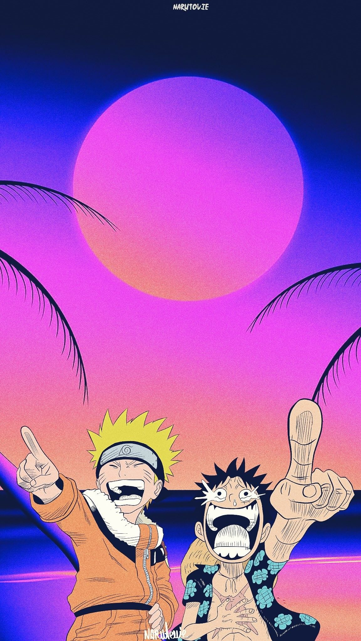 Naruto X Luffy Fond D Ecran Dessin Fond D Ecran Telephone Dessin One Piece