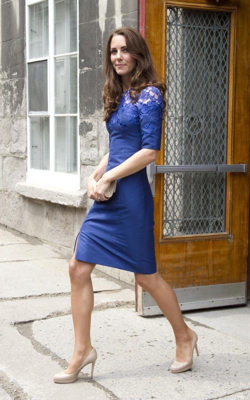 Royal blue lace dress styles  Blue lace Erdem dress Canada royal tour   Royals  Pinterest