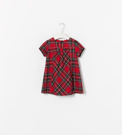 Tartan Plaid Little Girl Dress Zara Moda Infantil