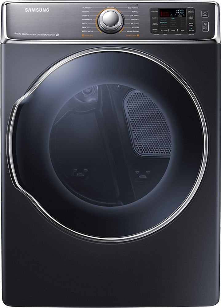 Samsung - 9.5 Cu. Ft. 15-Cycle Steam Gas Dryer - Onyx (Black)