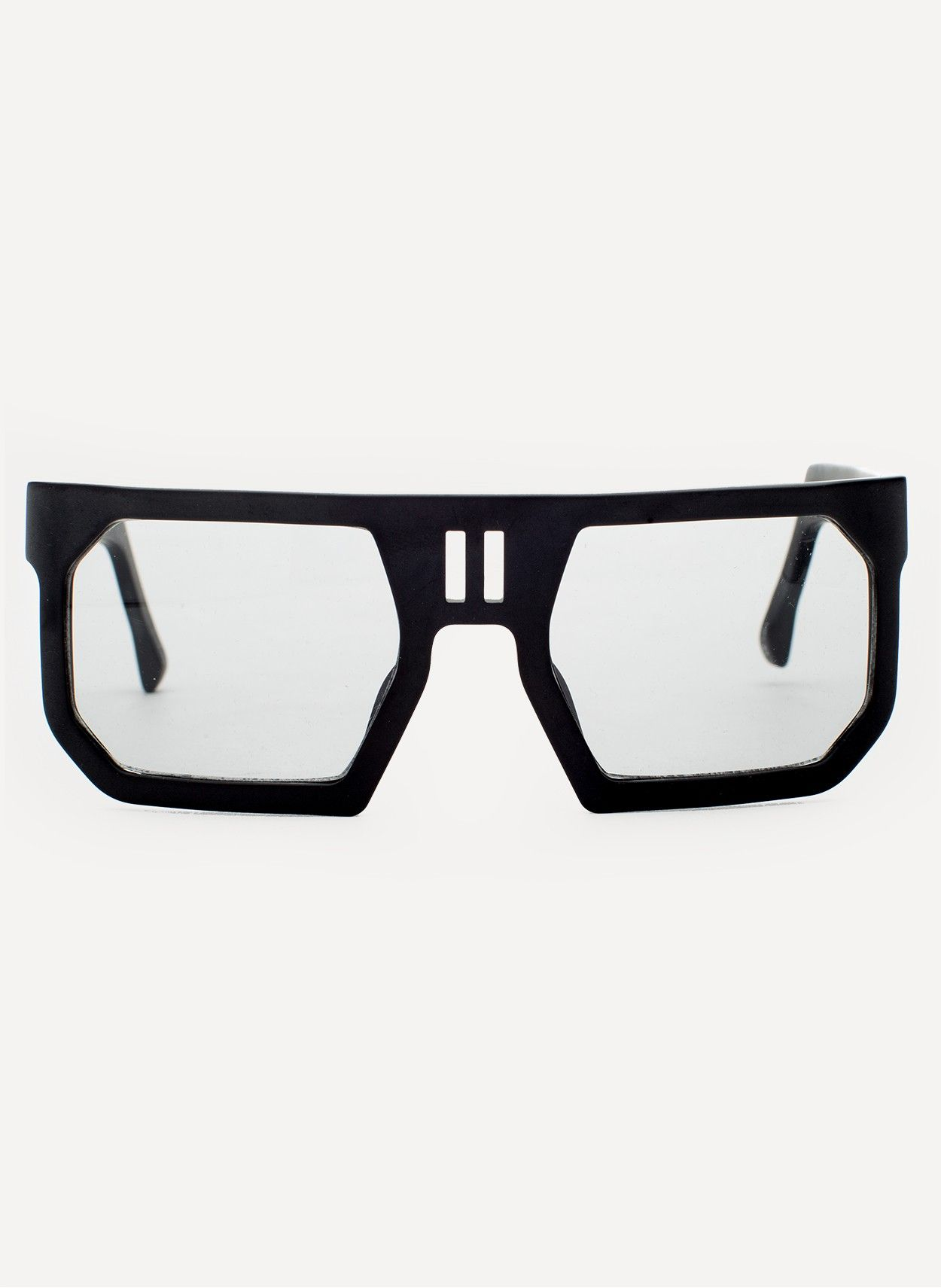 Boris Bidjan Saberi Rectangular Sunglasses Frame, MATTE BLACK; Lense, GREY Linda Farrow PROJECTS Collaboration Spring and Summer 2013 MATTE BLACK