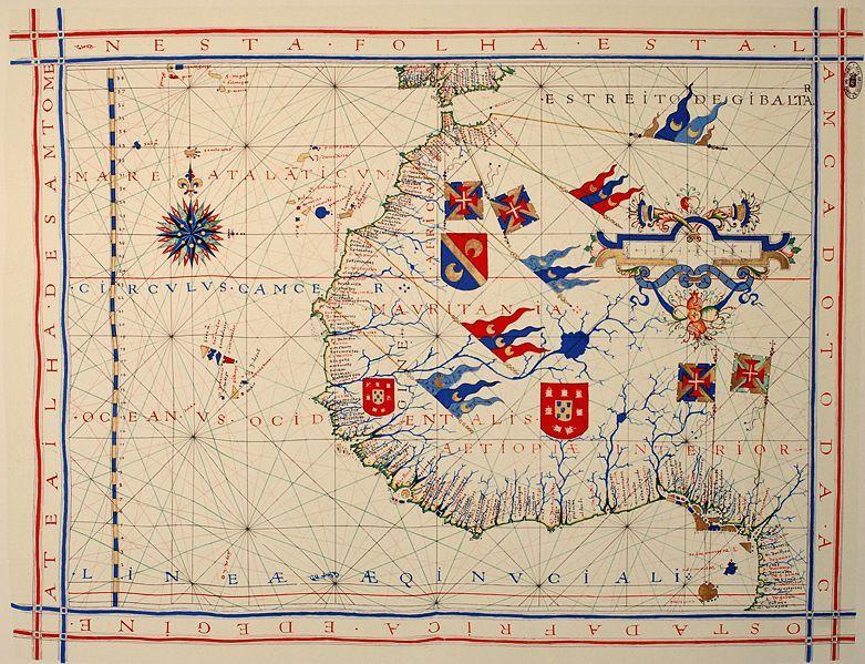 File Fernao Vaz Dourado 1571 1 Jpg Wikimedia Commons Cartography Map Africa Map