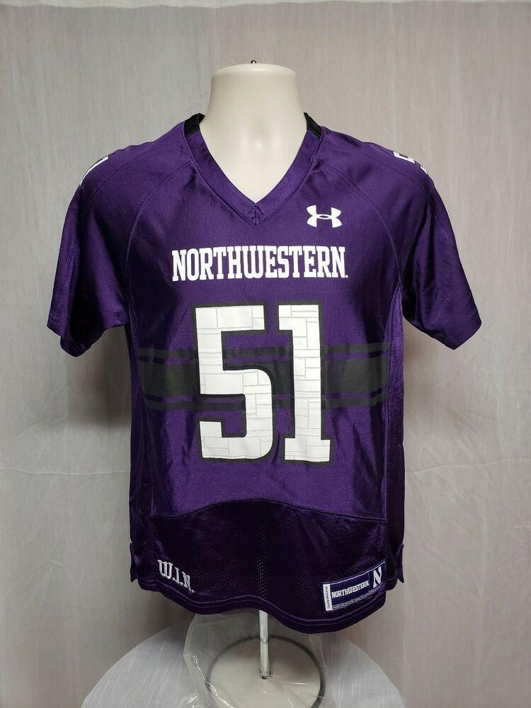 newest 9a48f 6d512 Under Armour Northwestern University Wildcats #51 YMD Purple ...