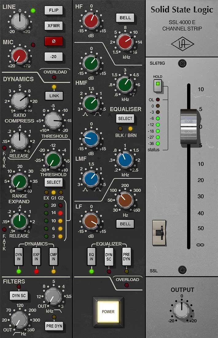 Ssl 4000 E Channel Strip Collection Uad Audio Plugins Universal Audio In 2020 Channel Strips Digital Audio Workstation Music Software