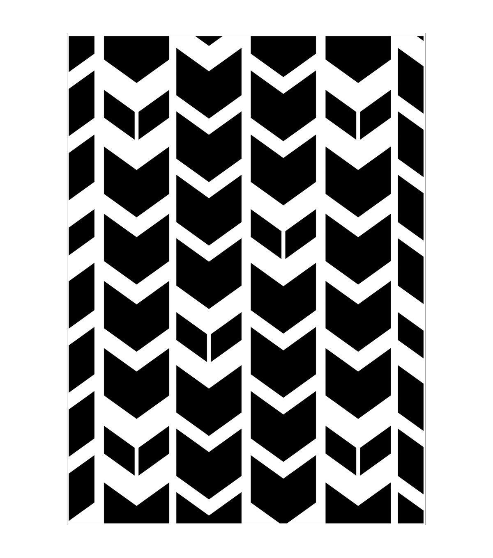 Tribal Chevron Darice Embossing Folder 4.25 x 5.75