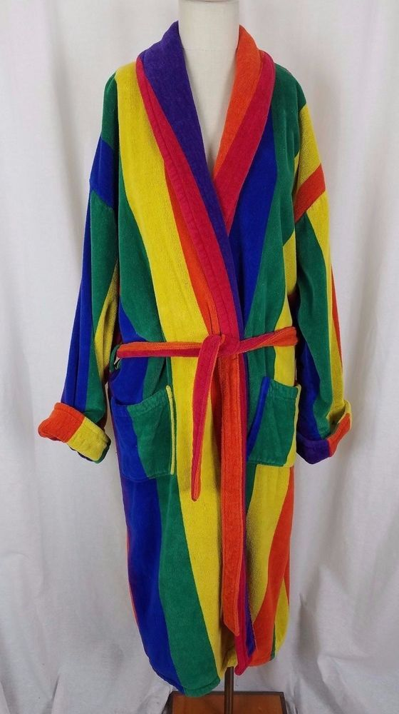 4d8fecf53b0ec Towels of Key West Rainbow TerryCloth Robe Mens XL Gay Interest Pride  Parade 70s #TowelsofKeyWest #Robes