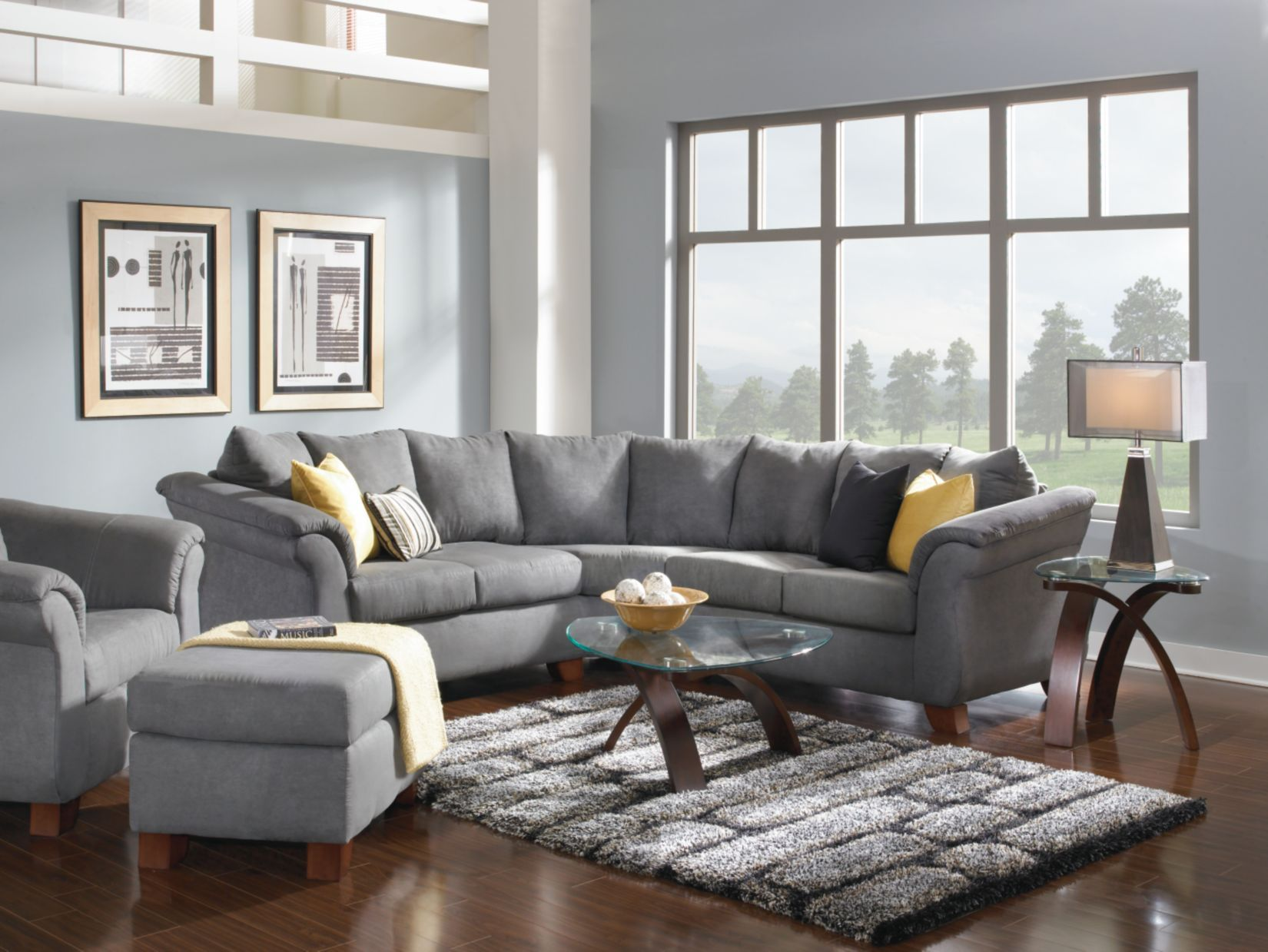 Adrian Graphite 4 Pc Living Room Package Value City Furniture Value City Furniture City Living Room Furniture