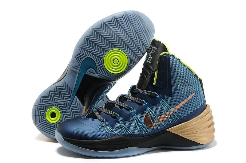 2014 Original Nike Hyperdunk 2013 XDR Metallic Blue Men Basketball Shoes