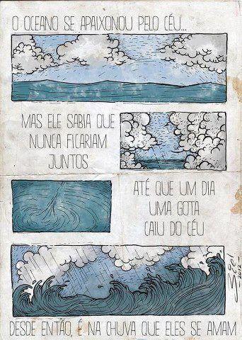 JP                                                         : O OCEANO SE APAIXONOU PELO CÉU