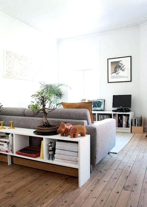 Bucherregal Hinter Sofa Wohnen Wohnzimmer Umgestalten Kleine