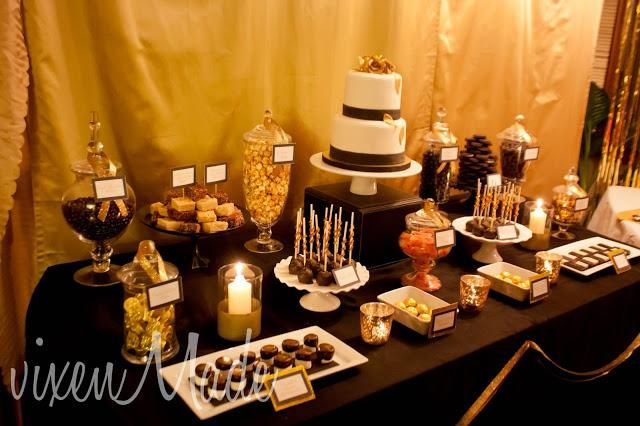 Black And Gold Party Favors