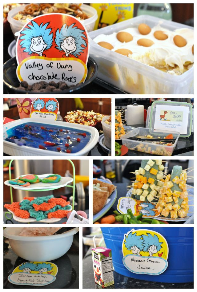 One fish two fish dr seuss theme party baby dickey for Fish themed party food