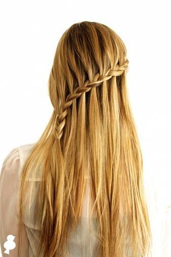 A Bird S Leap Crossover Cascade Braid Tutorial Hair Tutorial Easy Hairstyles For Long Hair Long Hair Styles