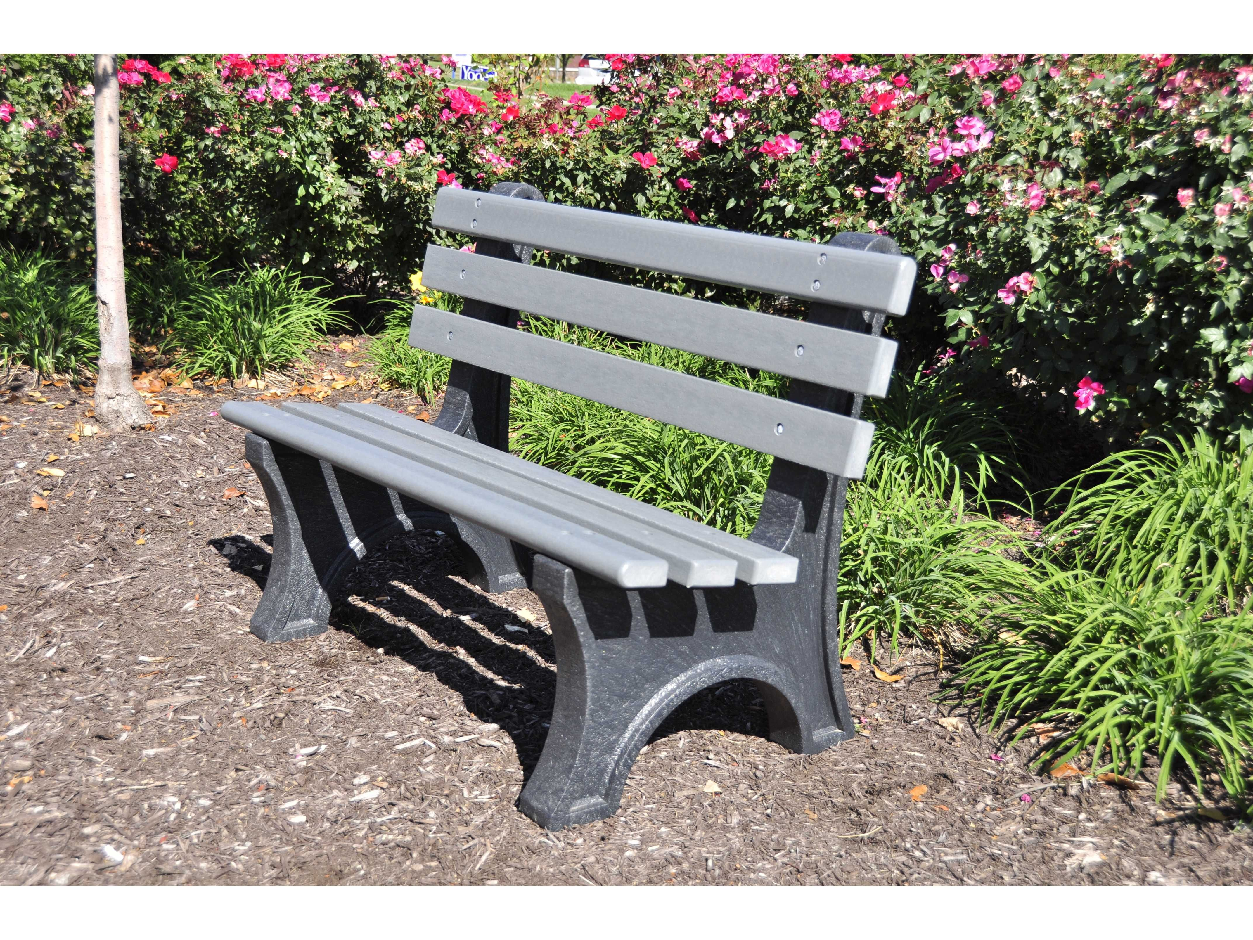 Frog Furnishings Central Park Recycled Plastic Bench Jhpbcpe Park Bench Recycled Plastic Outdoor Bench