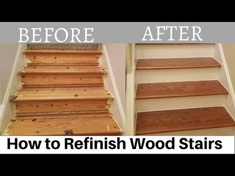 Best How To Refinish Wood Stairs Youtube In 2020 With Images 400 x 300