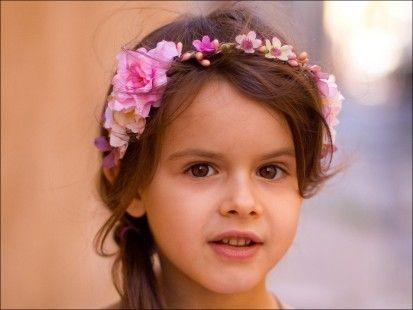 Couronne de fleurs pour enfant Ornella (pastel