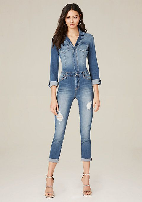 0fdd4e9be3e Wear-everywhere jumpsuit in a sanded