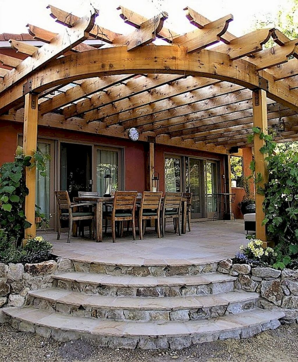 Awesome Home Deck Designs: 65 Backyard Pergola Decor Ideas On A Budget