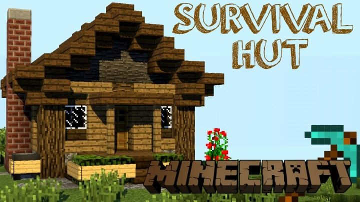 How To Build - Survival Hut Minecraft Project | Minecraft