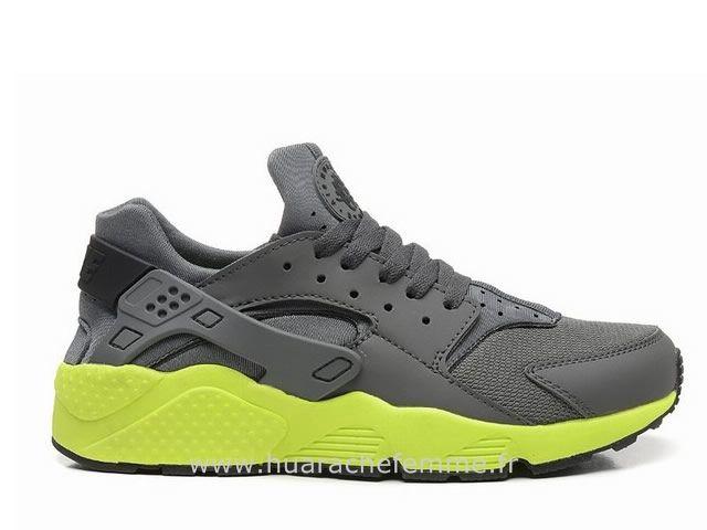 Nike Air Huarache Homme Gris et Vert Nike Huarache Homme Noir   www ... c802dd514c16