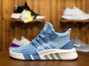 pretty nice 59c6e 1424f Adidas Originals EQT BASK ADV White Light Blue AC7353 Womens Mens Running  Shoes