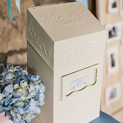 special delivery letter box wedding wishing well
