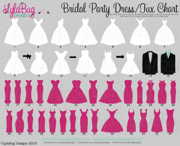 Bridal Party Tumbler 1: LylaBug Designs   Dress styles chart, Prom dress  styles, Prom dresses