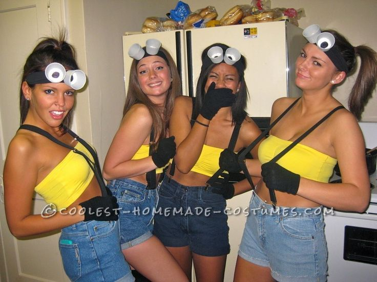 Easy and cheap homemade girl group costumes despicable me for easy and cheap homemade girl group costumes despicable me solutioingenieria Image collections