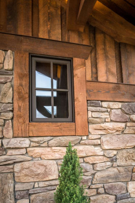Montana timber products photo gallery house for Windows for log cabins
